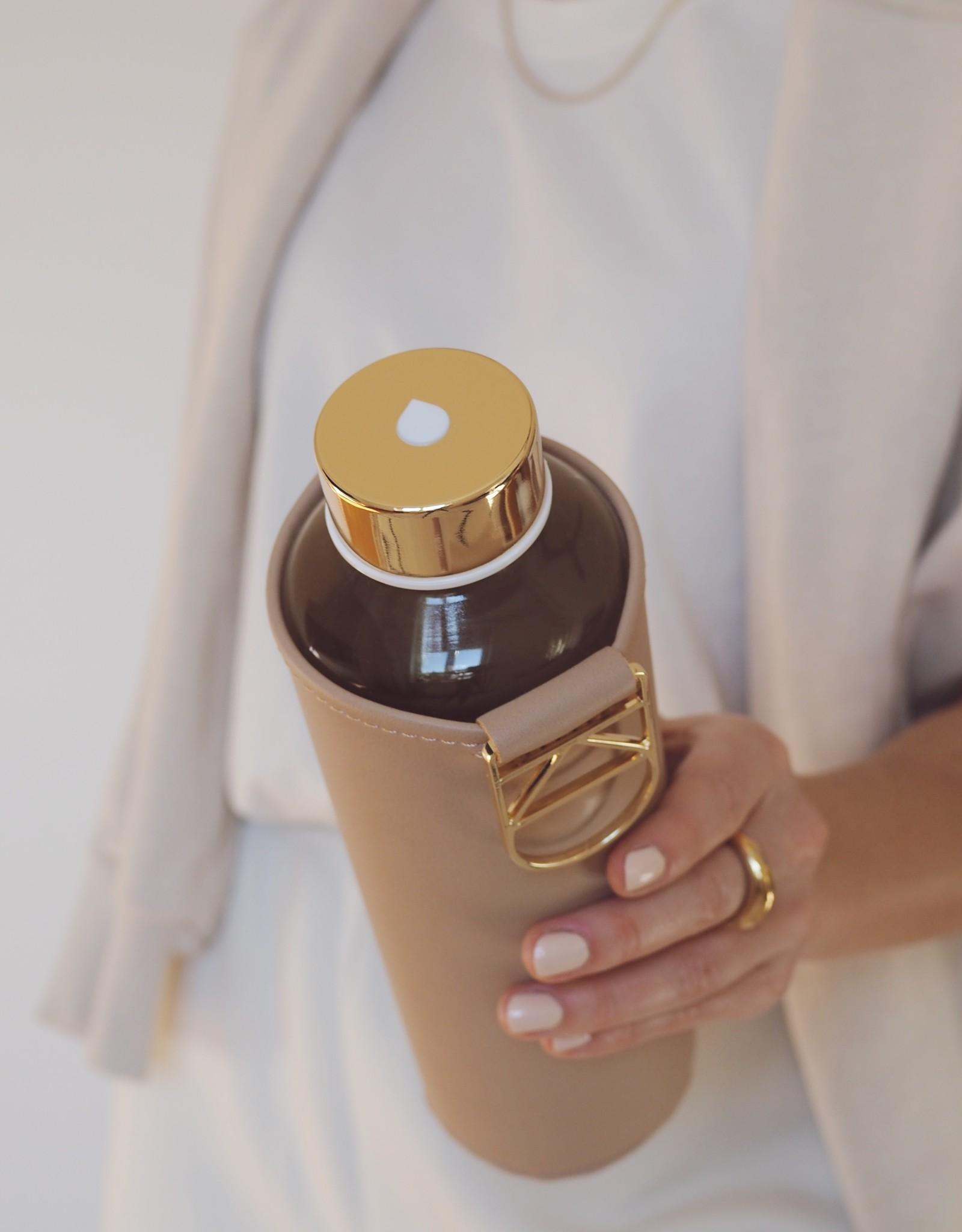 Equa Glazen drinkfles met cover - Sienna 750 ml