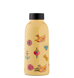 Mama Wata Mama Wata thermische drinkfles 470 ml - Tattoo
