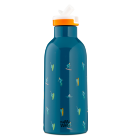Mama Wata Mama Wata thermische drinkfles + sportdop 470 ml - Surf