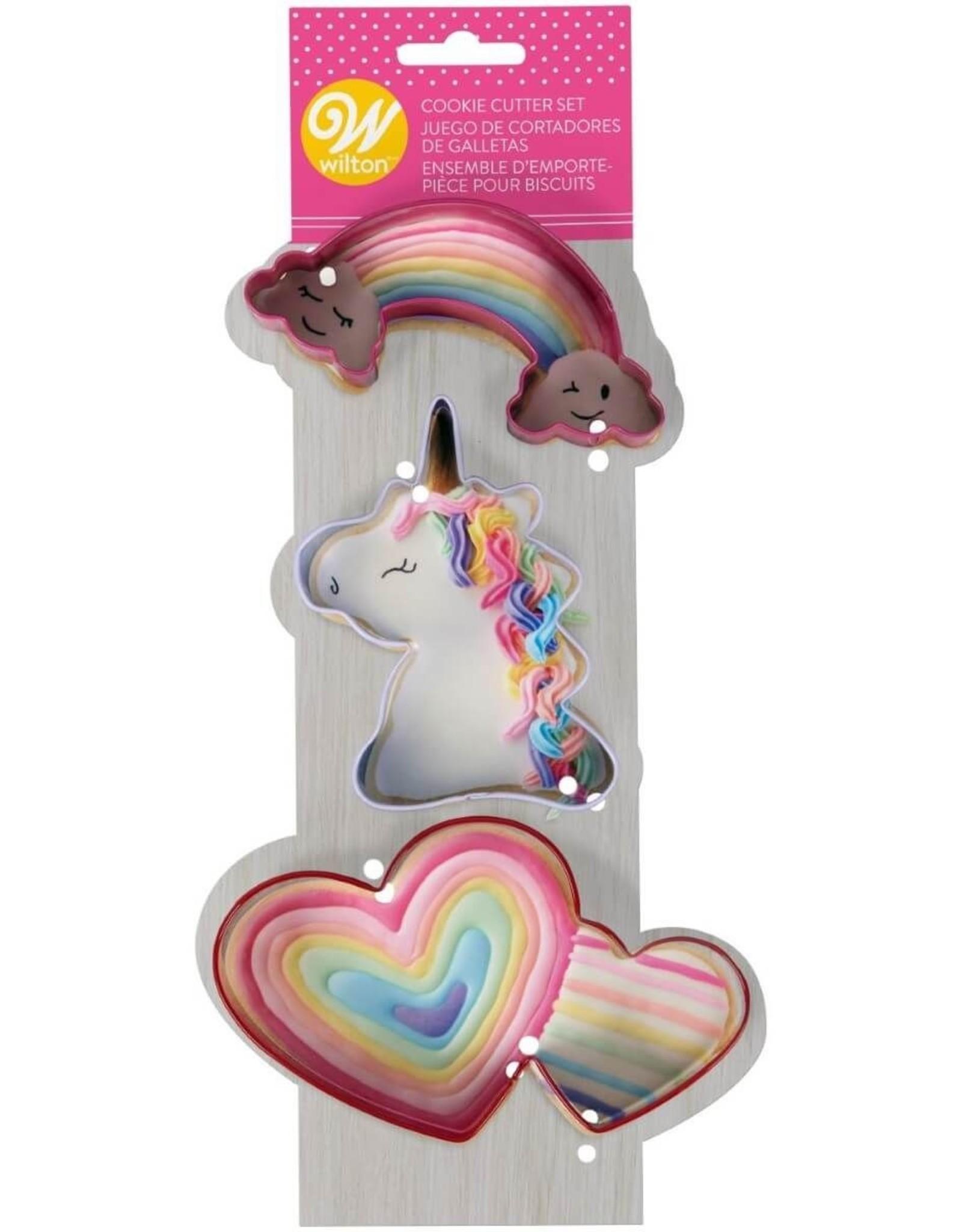Uitsteker regenboog - eenhoorn - hartjes