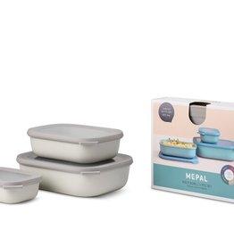 Mepal Multikom Cirqula rechthoekig 3-delige set (500+1000+2000 ml) - Nordic white