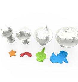 Stempel/uitsteker unicorn set