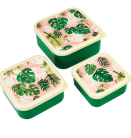 Rex London Snackdoosjes (set van 3) - Tropical palm