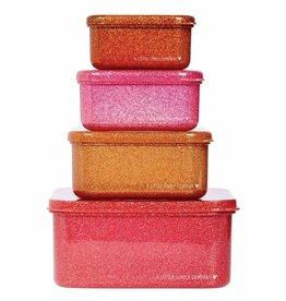 A Little Lovely Company Lunch en snackbox set - Autumn pink
