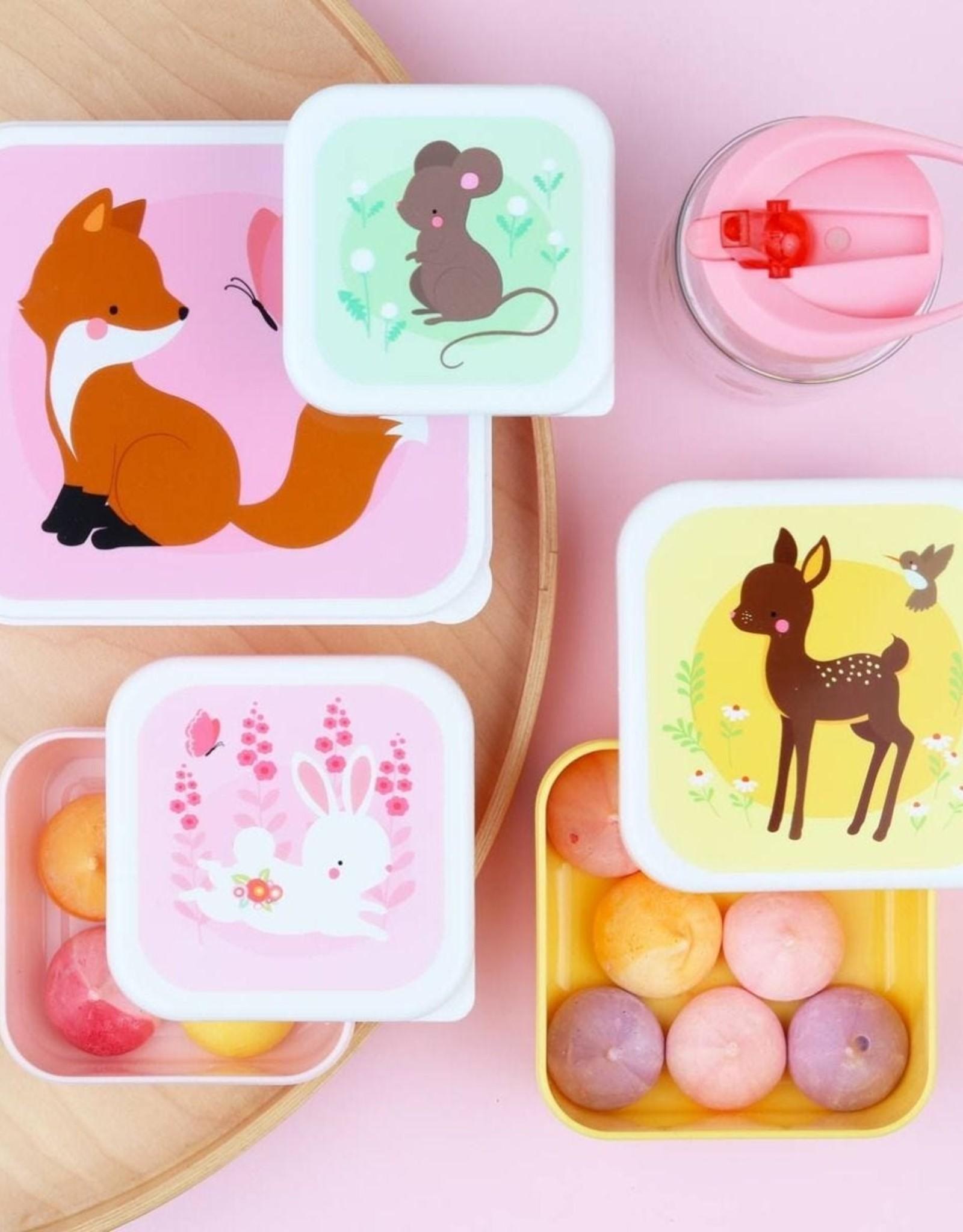 A Little Lovely Company Lunch en snackbox set - Bosvriendjes