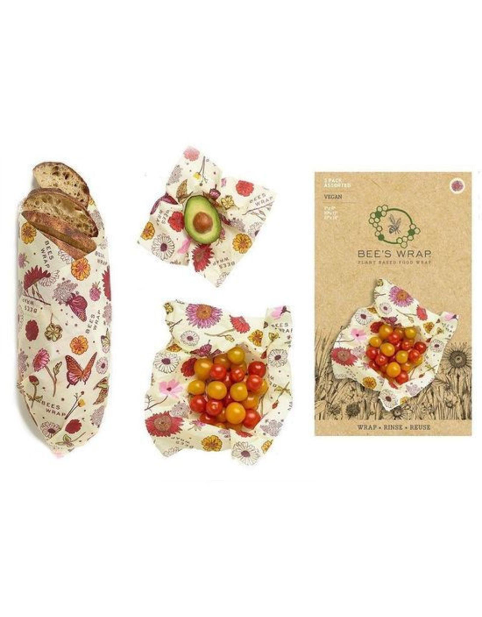Bee's Wrap Bee's Wrap - 3-Pack Assorted Meadow Magic VEGAN