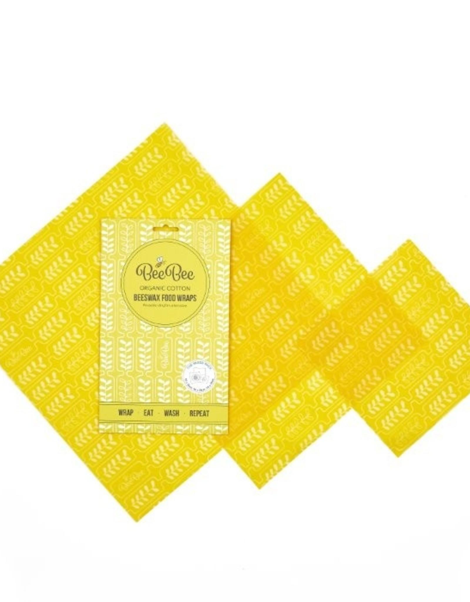 BeeBee & Leaf BeeBee wrap (set van 3) - wheat