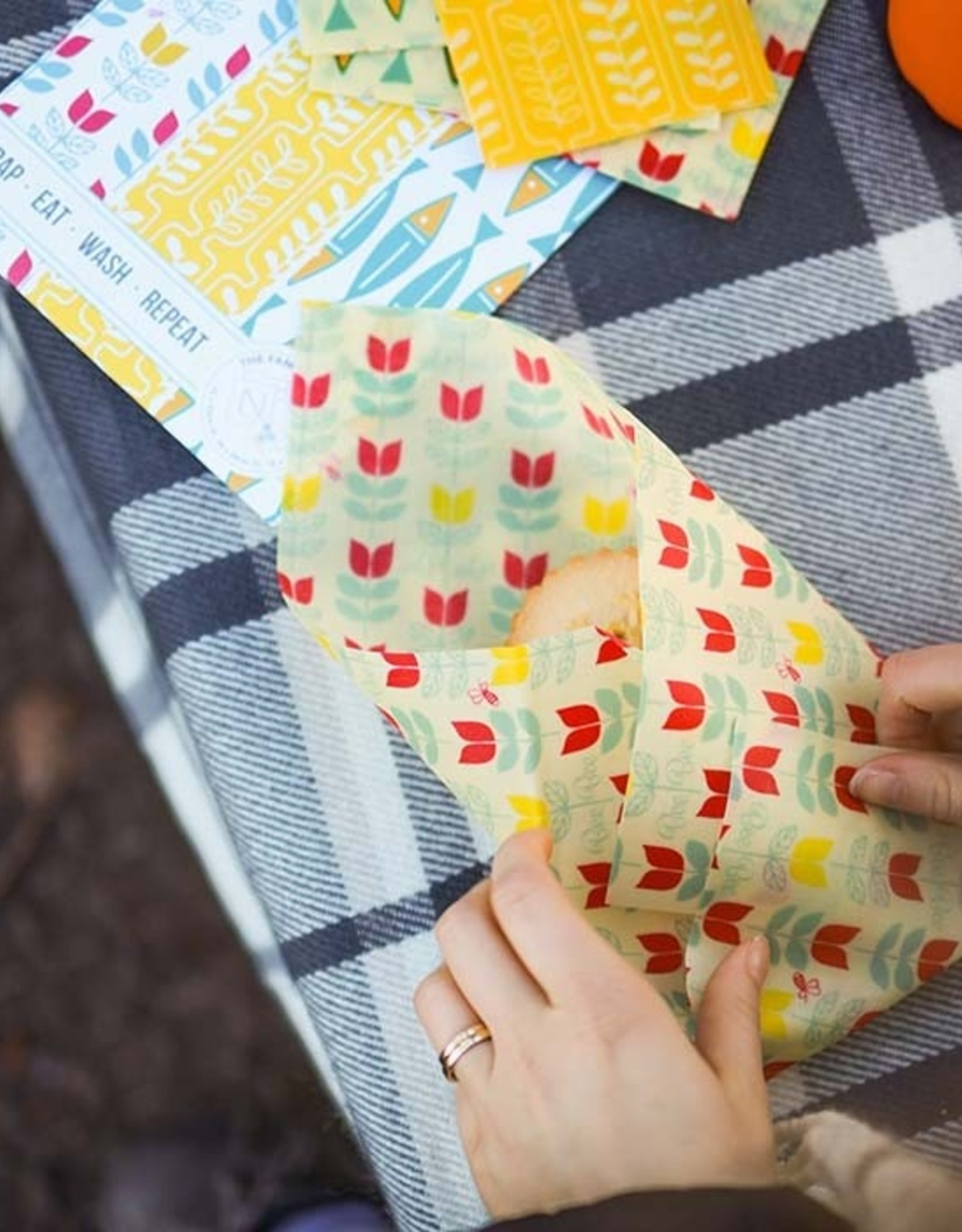 BeeBee & Leaf BeeBee wrap (set van 5) - Nature