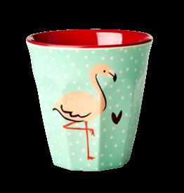 Rice Melamine cup - Flamingo