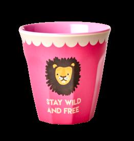 Rice Melamine cup - Leeuw