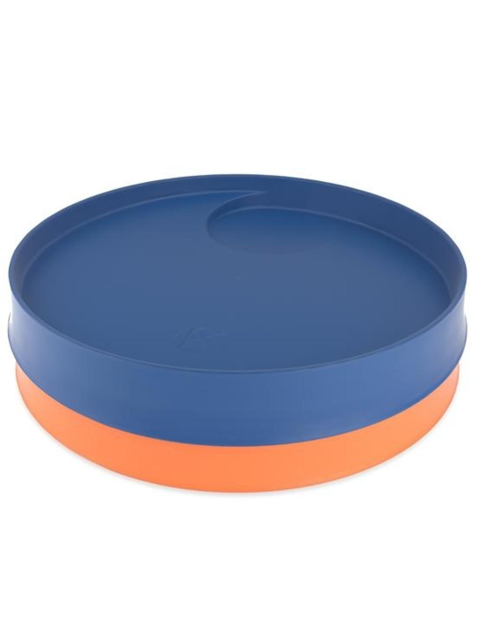 Kizingo Kinderborden NUDGE blauw/oranje - set van 2