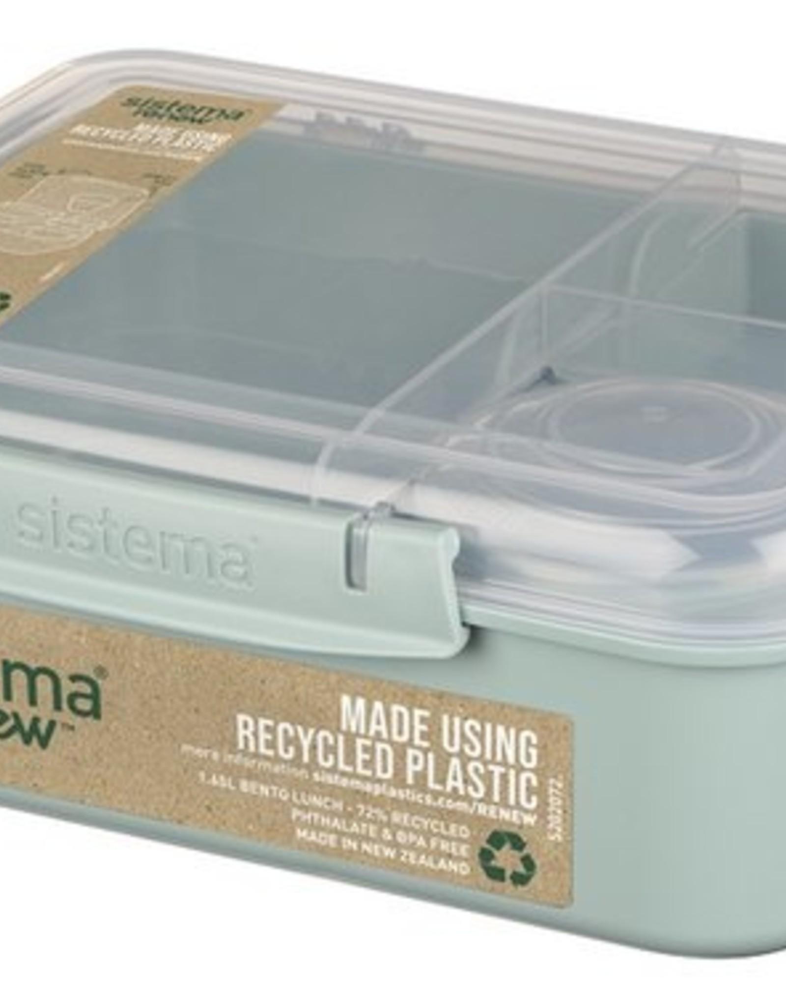 sistema Sistema renwe Bento lunchbox 4comp. - lichtblauw