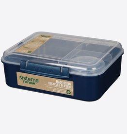 sistema Sistema renwe Bento lunchbox 4comp. - donkerblauw
