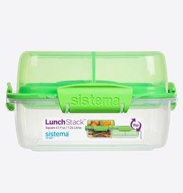sistema Sistema lunch stack to go vierkante lunchbox - groen