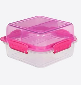 sistema Sistema lunch stack to go vierkante lunchbox -Roze