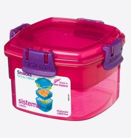 sistema Sistema Snack Box to Go 400ml - roze