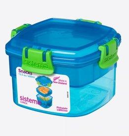 sistema Sistema Snack Box to Go 400ml - blauw
