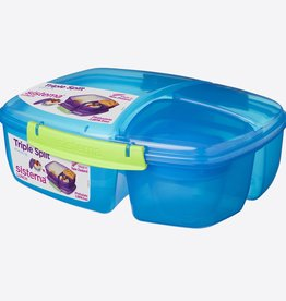 sistema Sistema lunchbox Trends Triple Split blauw