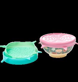 Rice Silicone lid voor medium kommen  (O 14,5 cm) - Roze