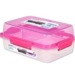 sistema Lunch stack to go rechthoekig 1.24L - roze