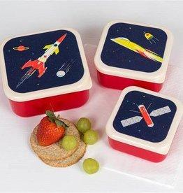Rex London Snackdoosjes (set van 3) - Space age kids