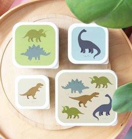 A Little Lovely Company Lunch en snackbox set - Dinosaurussen