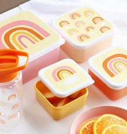 A Little Lovely Company Lunch en snackbox set - Regenbogen