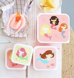 A Little Lovely Company Lunch en snackbox set - Zeemeerminnen