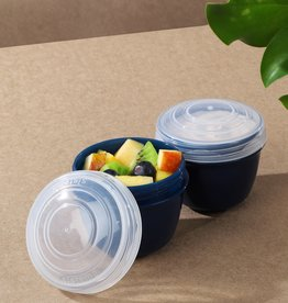 sistema Sistema Renew set van 2 yoghurtpotjes - Donkerblauw