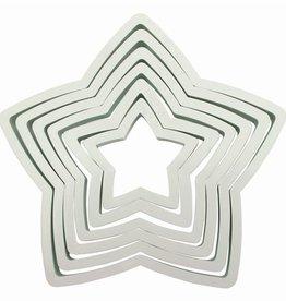 Wilton Uitsteker ster plastiek - Set van 6