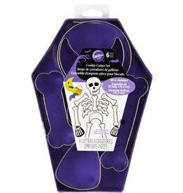 Wilton Wilton Cookie Cutter Skeleton Set/6