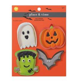 Wilton Wilton Cookie Cutter Bat/Pumpkin/Ghost/Frankenstein Set/4