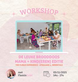 FLINGO Workshop 'De leuke brooddoos' Mama + Kind - Woe 03/11 14u