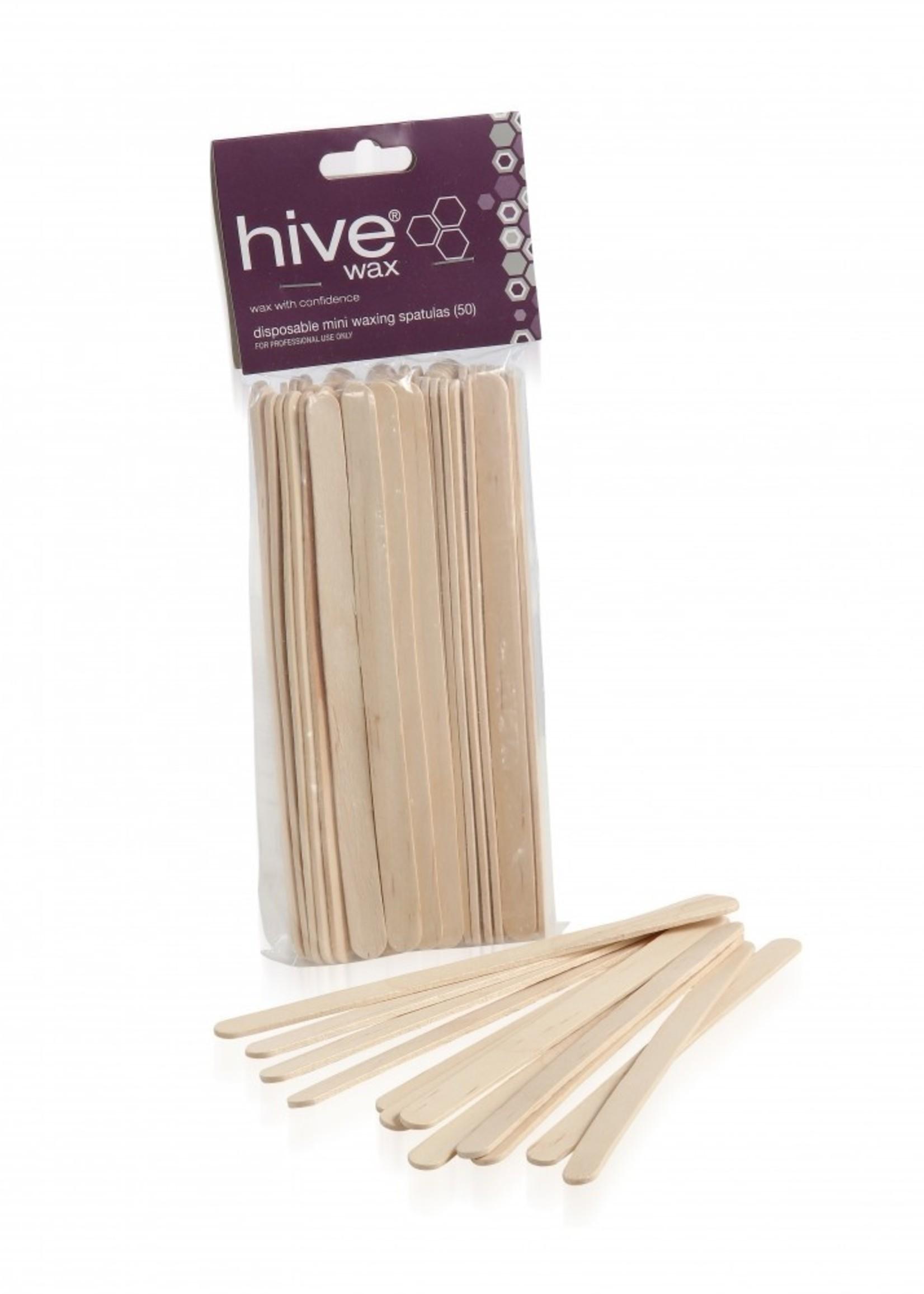 Hive of Beauty Holzspatel Small 50 Stück 1cm breit