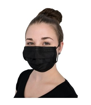 Soft Protect Mundschutz Schwarz 50 Stück