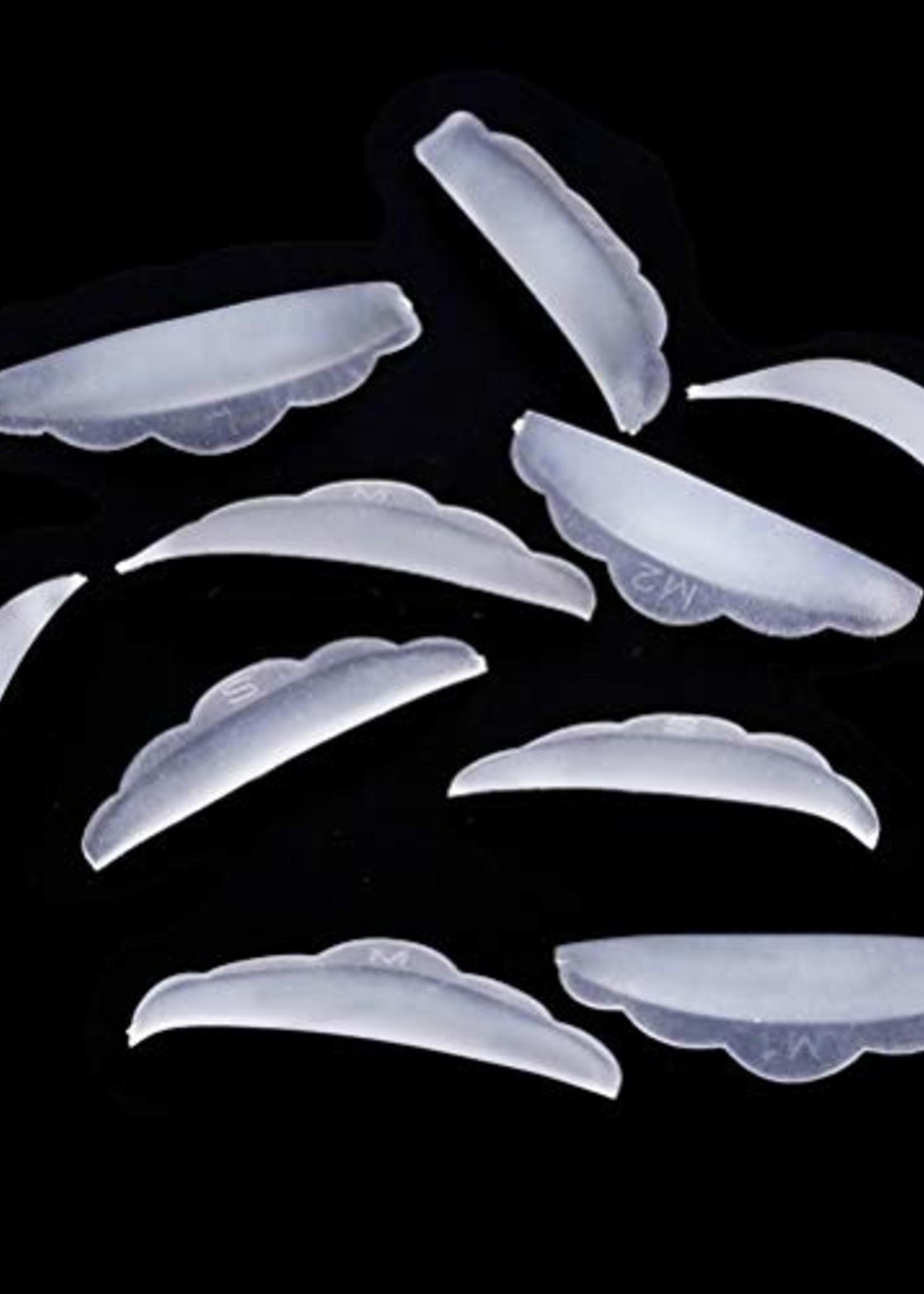 Lash Candies® Silicone Rods Round Shape 5 Pair Sizes S, M, M1, M2, L