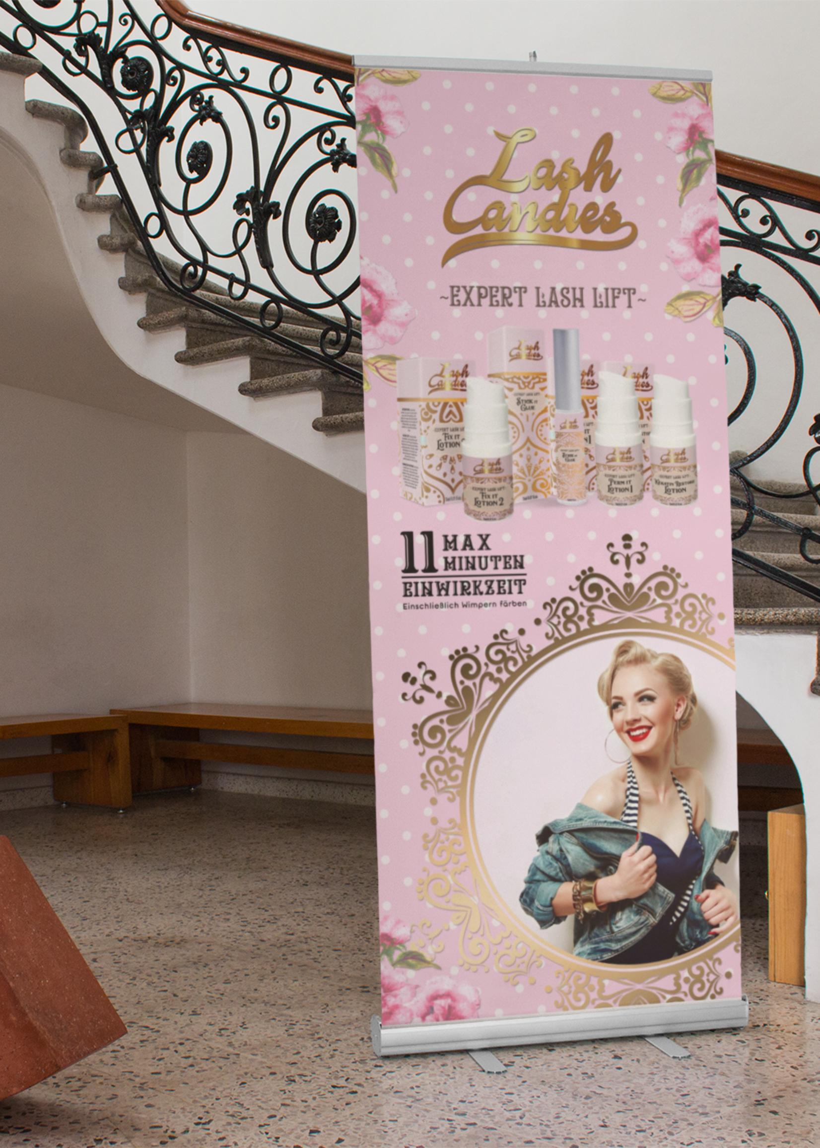 Lash Candies® Roll up Banner 85 x 200 cm Scholing
