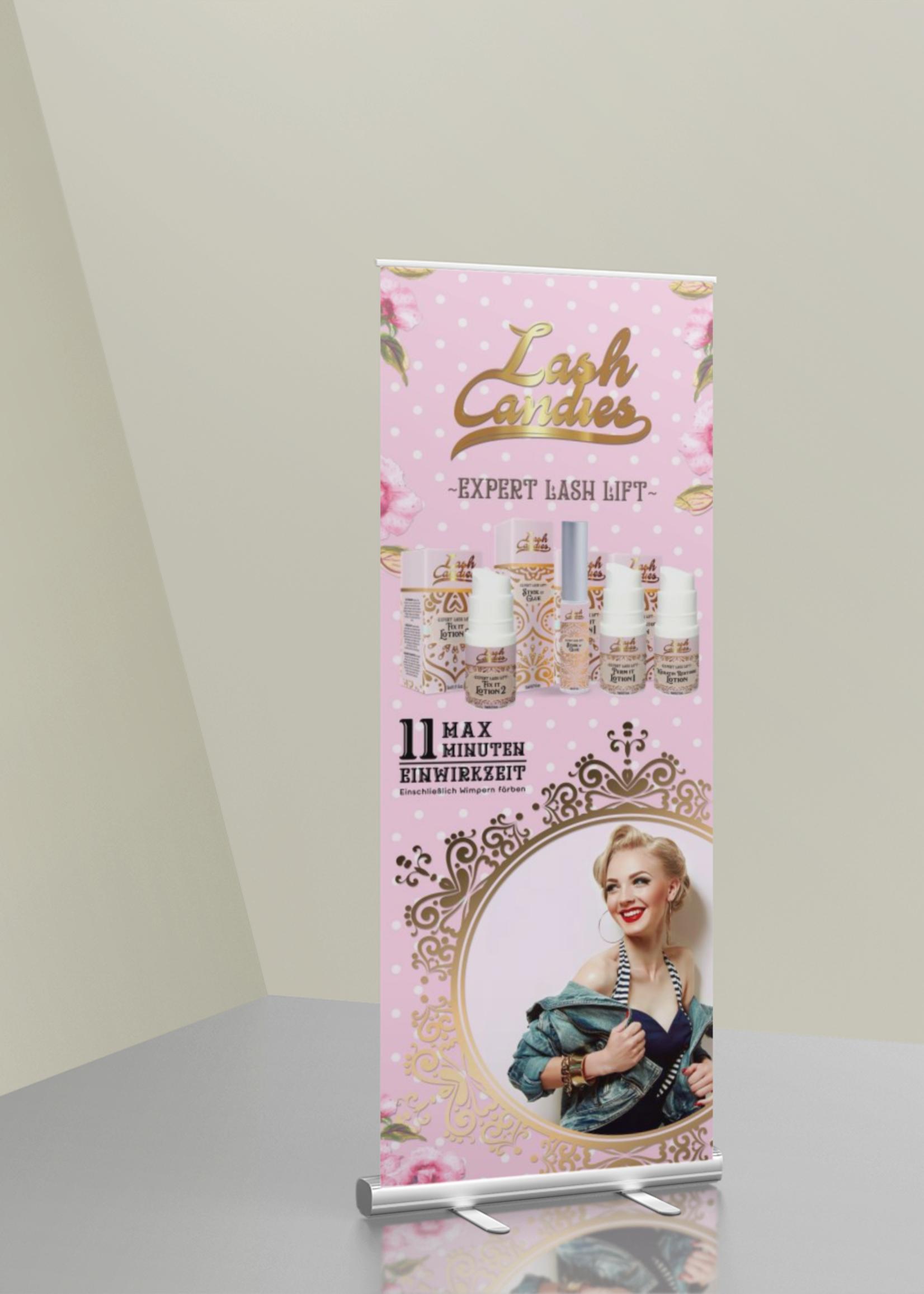Lash Candies® Roll up Banner 85 x 200 cm Academie