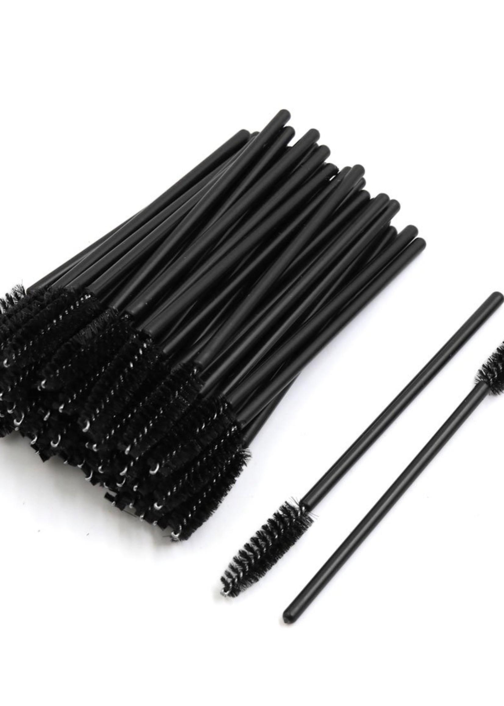 Browguru® Nylon Wimpern & Augenbrauen-Bürsten Black 50 Stück