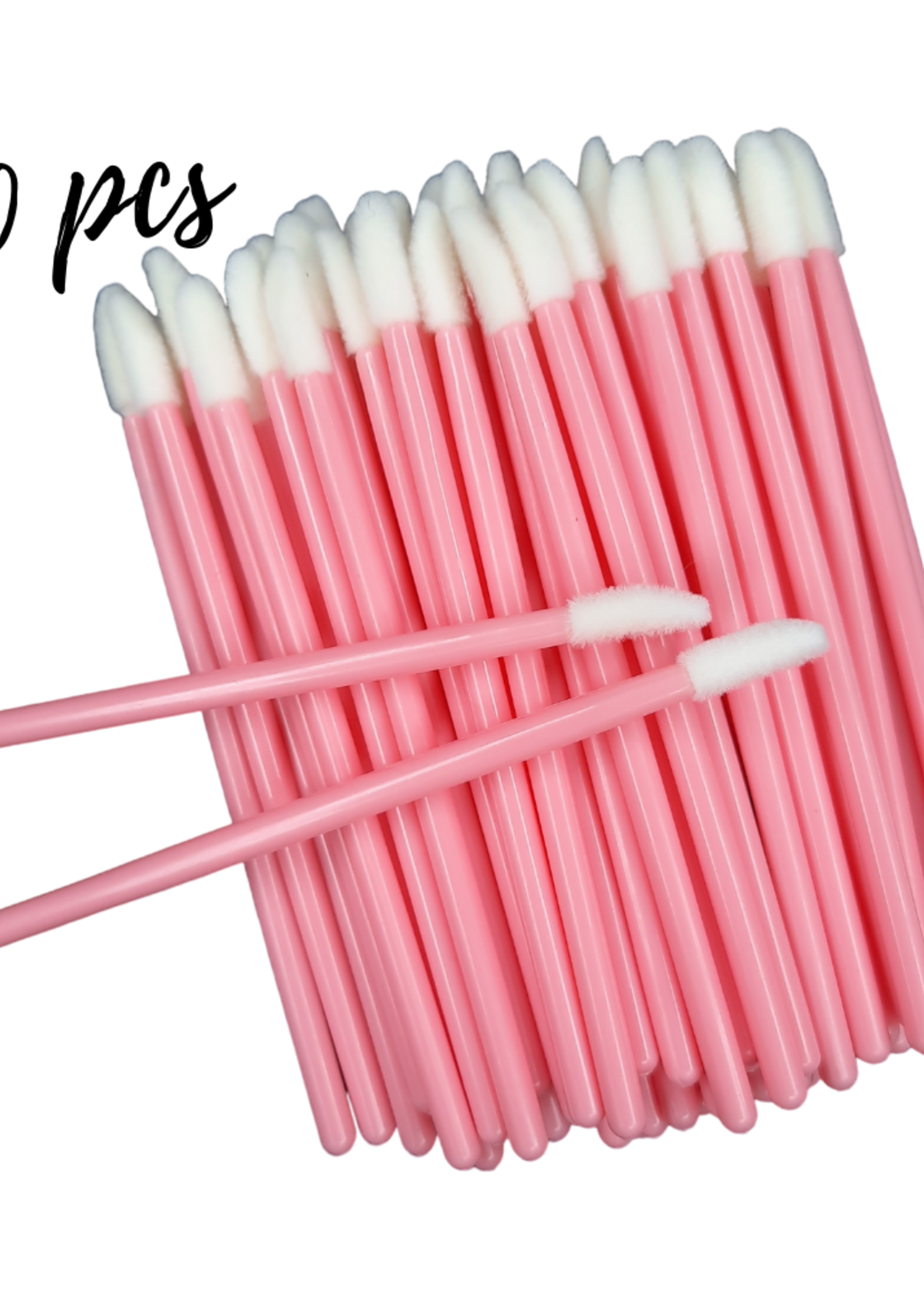 Lash Candies® Lipgloss Applicator Pink 50 Pieces