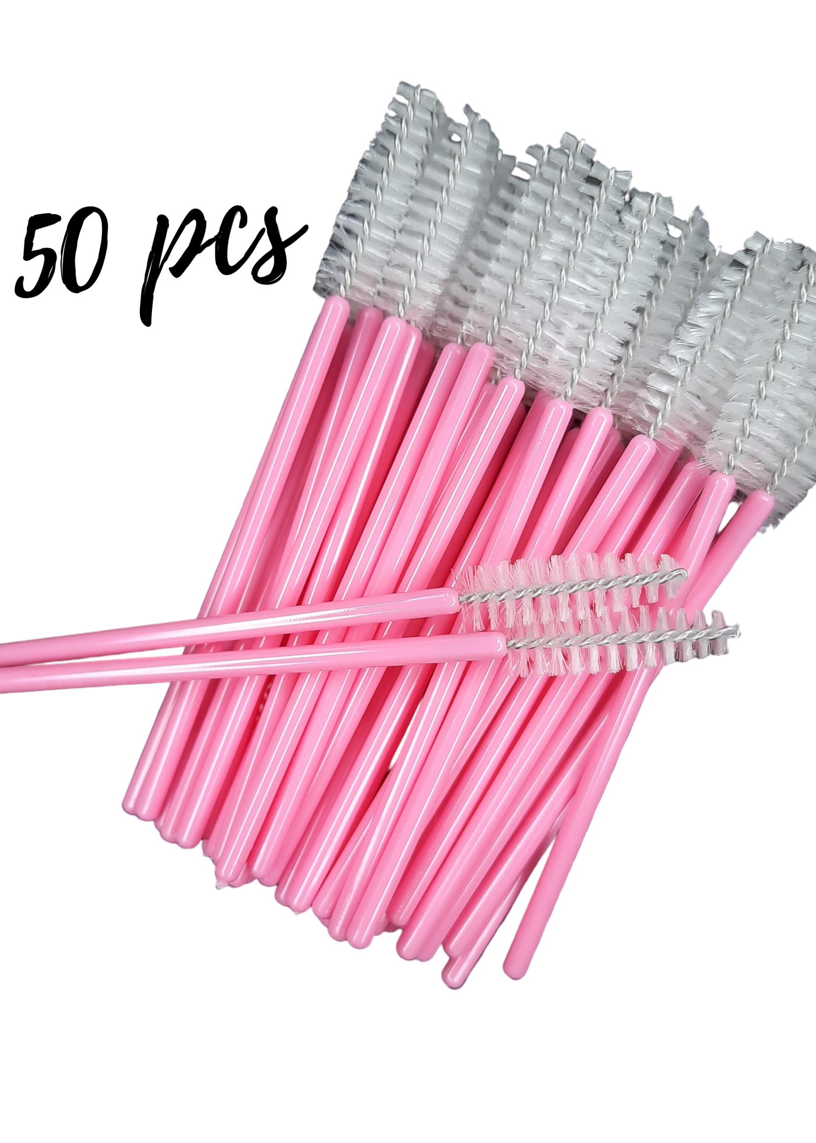 Lash Candies® Nylon Lash & Brow Brush Black 50 Pieces