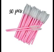 Nylon Wimpern & Augenbrauen-Bürsten 50 Stück