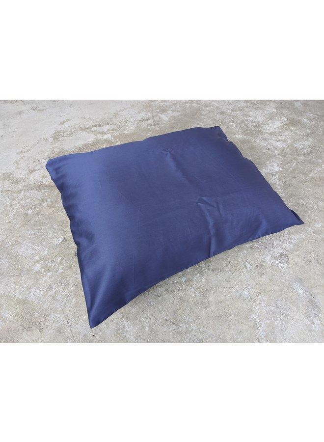 Pillow Case Deep Blue + White