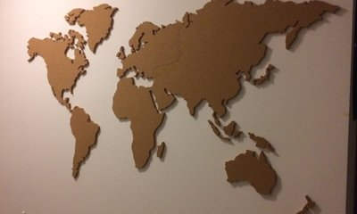 Kork Pinnwand Weltkarte 150 X 80 Cm Kaufen Sie Jetzt