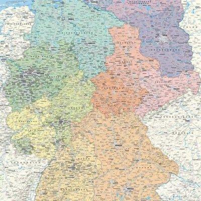 deutschlandkarte auf kork Kork Pinnwand karte Deutschland   60 x 90 cm   POSTER ✓ Kaufen