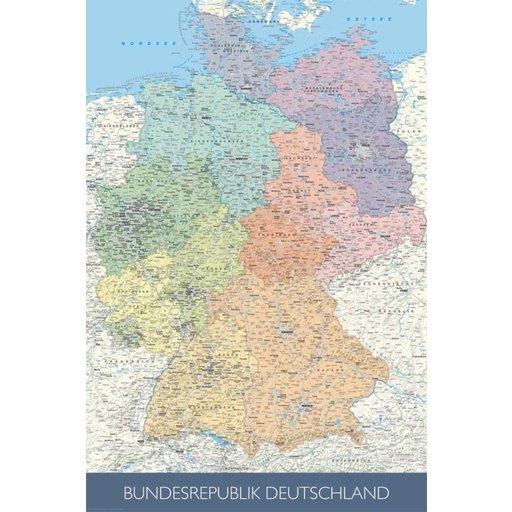 Kork Pinnwand Karte Deutschland 60 X 90 Cm Poster Kaufen
