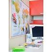 Korkpinnwand Weltkarte - Holzrahmen - 60 x 90 cm