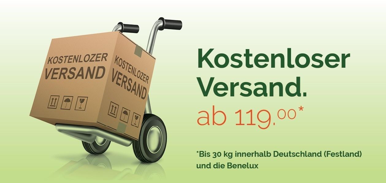 Lieferung frei Haus ab  € 119,-