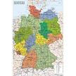 Kork Pinnwand karte Deutschland - 60 x 90 cm  auf 6 mm kork