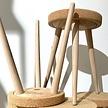Korkhocker - Holzbeine